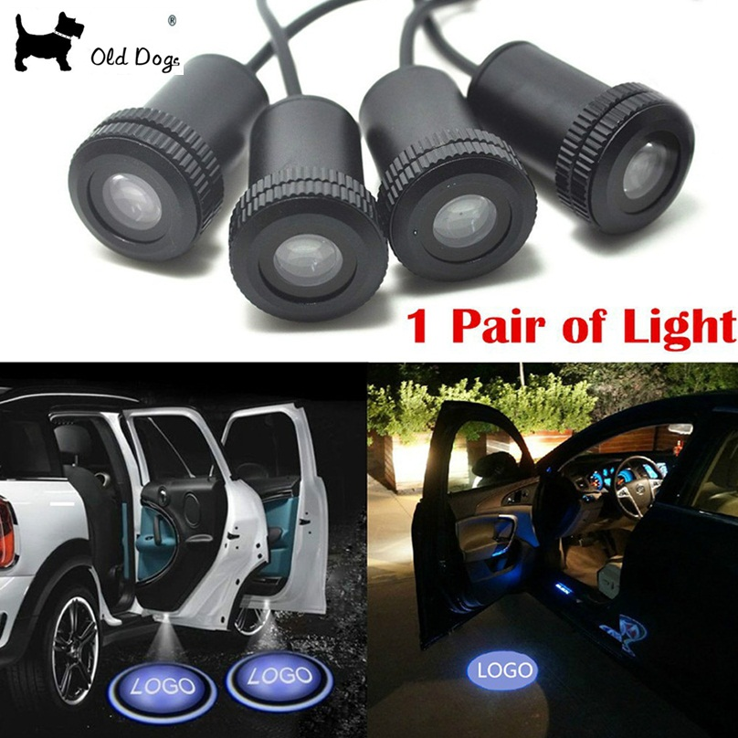 2pcs led lamp for car the lighting in the door logo projector/ghost shadow/logo courtesy light universal for Ford<br><br>Aliexpress