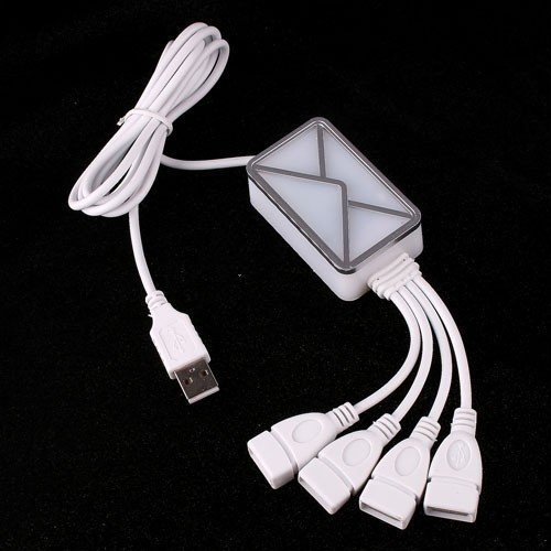 product 4 Port HUB USB 2.0 Webmail Email Reminder Receiver Notifier for PC Laptop