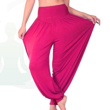 Fashion New 7Colors Lady Girl's Cotton Long Pants Belly Dance Wide Trousers M/L/XL/XXL OR651417(China (Mainland))