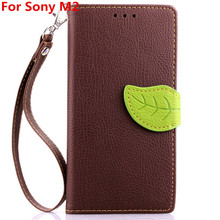 PU Leather + TPU Wallet Mobile Phone Case for Sony M2 Hot Protective New Stylish Phone Case for Sony M2 Smartphone Accessories