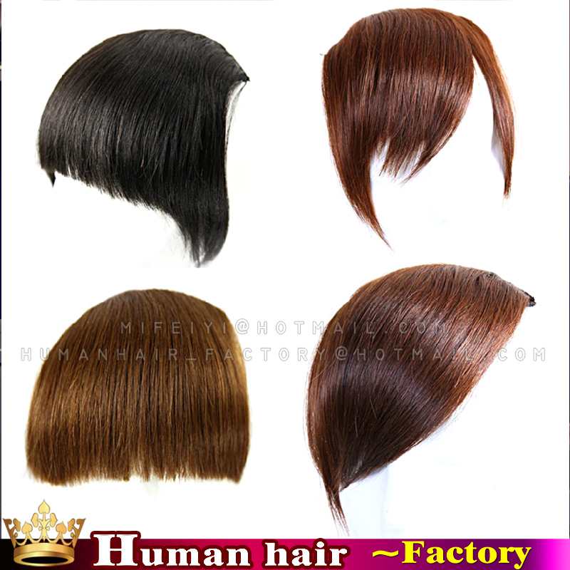 Grade 5A Bangs Hair Clip In Side Bang Fringe Hair Extensions Beautiful Side Sweeping Clip In Fringe bangs Natural Black<br><br>Aliexpress