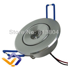 Free shipping 3W LED Recessed Downlight Cabinet Lamp silver shell 85-265v  down light , White Red Green Blue Yellow  color(China (Mainland))