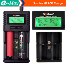 Soshine H2 LCD Battery Charger AA AAA 14500 26650 9V Battery Desulfator 18650 Battery Charger EU Adapter +USB Cable +Car Charger