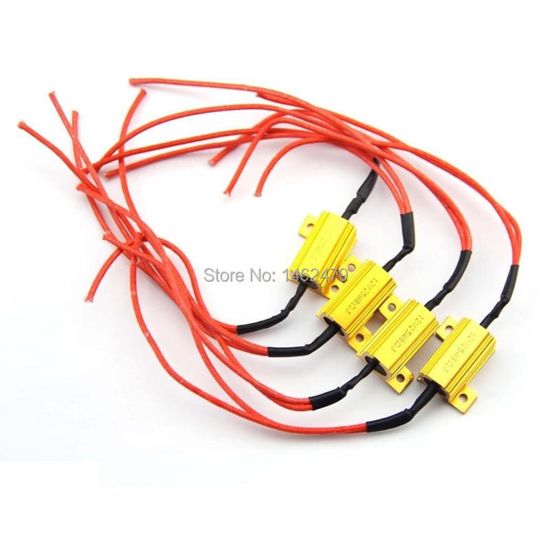 4pc 25W LED bulb Turn Signal Light DRL Load Resistor Fix Error fast Flash 1156 P21W BAU15S 1157 BAY15D 74407443 3156 3157(China (Mainland))