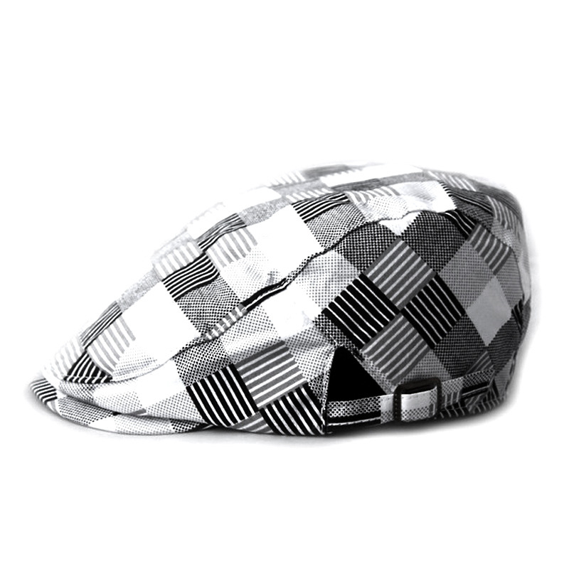 Simple Style Big Plaid Spirng New Brand Beret Male Female Fashion Spring Berets Causal Spring Sunhat Sun Cap For Unisex(China (Mainland))
