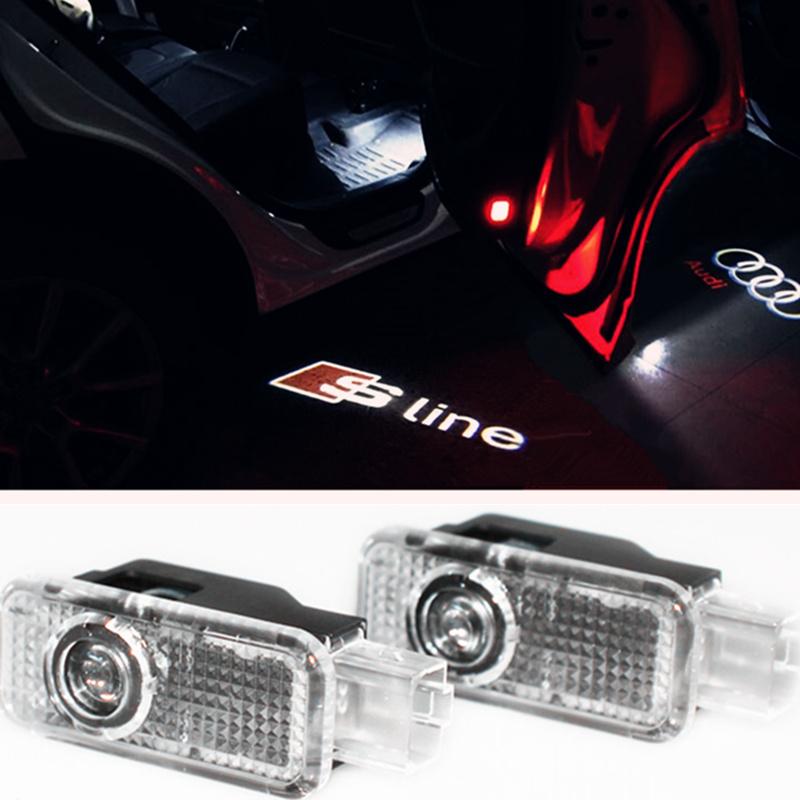 2 Laser LED Door Courtesy projector Shadow Light For Audi A4 A1 A3 A5 A6 A7 A8 Q3 Q5 Q7 B5 B6 B7 C5 C6 S LINE SLINE 80 TT C7(China (Mainland))