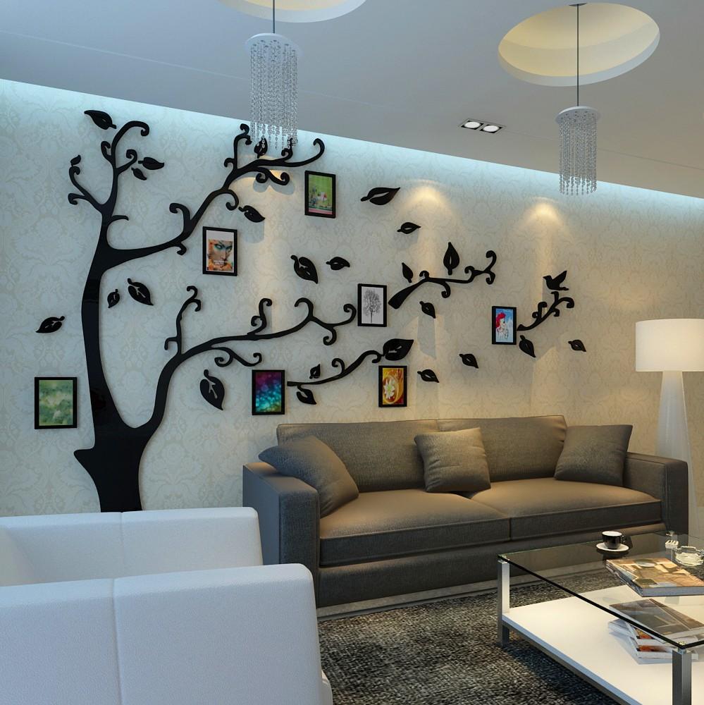 3d afneembare slaapkamer decoratie kristal acryl muurstickers ...