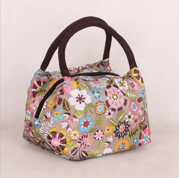 New 2015 Fashion Japan and Korean Style Women Handbags Character Striped Print bag Polyester leather lunch Totes makeup bag