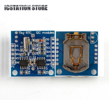 Buy 2PCS AT24C32 Real Time Clock RTC I2C DS1307 Module Arduino UNO AVR ARM PIC 51 ARM 24C32 for $1.19 in AliExpress store