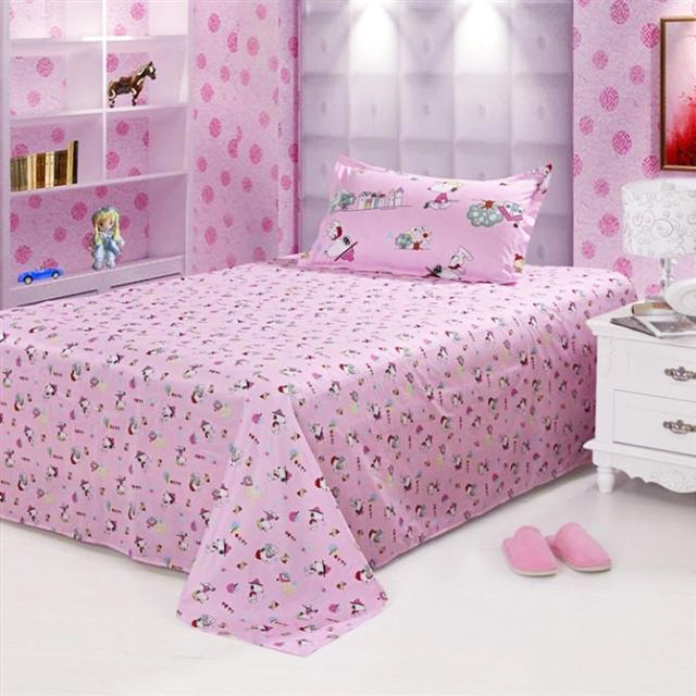 Textile cotton 100% 1.2 meters single bed child bed sheets 100% cotton princess , laguan separate