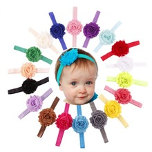 18 Pcs/Lot 1.5*35cm Floral Baby Headbands Baby Mixed Colors Toddler Girls' Headbands Hair Accessories for Casual occasion(China (Mainland))