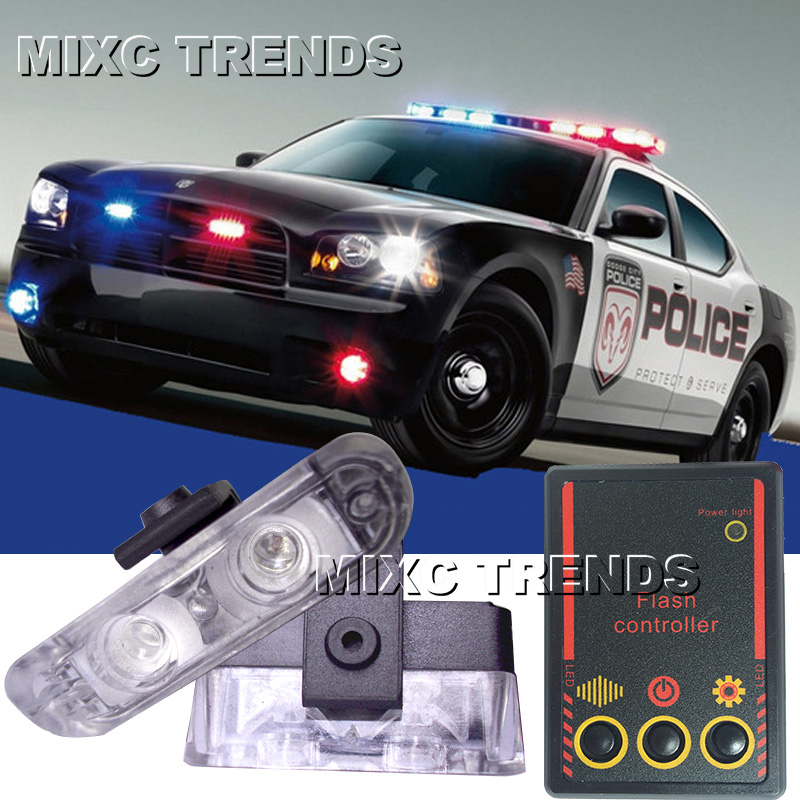 2x2 led led ambulance police light car truck motorcycle. Black Bedroom Furniture Sets. Home Design Ideas