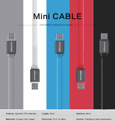 Nillkin Original 2 In 1 Type-C Micro Port USB Sync Kirsite Cable 100cm 5V 2.1A Fast Charging Cable For iPhone 5/5S/SE/6/6S Plus
