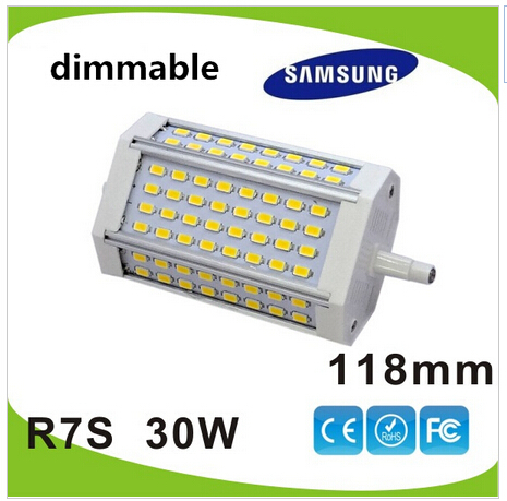 Free shipping 30w led R7S light 118mm dimmable J118 R7S lamp 3 years warranty flood light source<br><br>Aliexpress