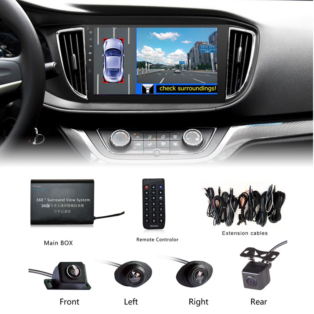 universal 360 degree car security camera car parking system with car dvr record panoramic view. Black Bedroom Furniture Sets. Home Design Ideas