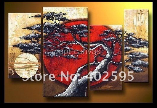 Free shipping home decoration abstract art Sunset Swing Pine handmade oil painting on canvas huge size From artist YPA008