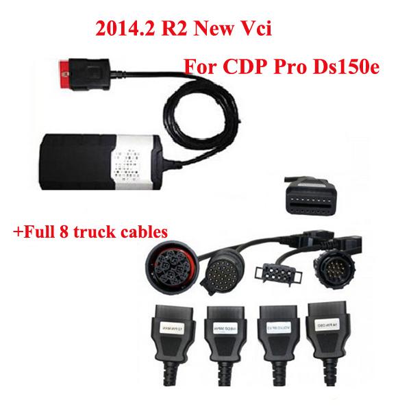 Vci CDP Pro Plus DS150E Deiphi Car diagnostic tool scanner obd2 Cars & Trucks + Full 8 truck cables Scanner