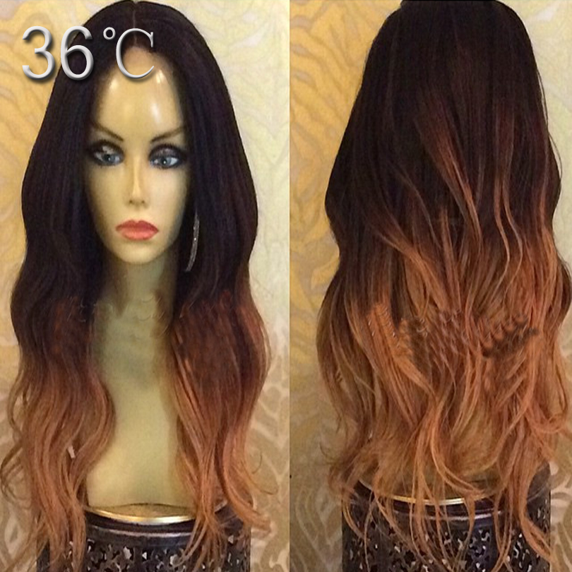 Ombre lace wig super natural wave lace front wigs ombre blonde color lace full lace wig long human remy hair wig with baby hair<br><br>Aliexpress