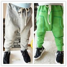 Spring and summer Boys harem pants Kid pants Full Length boys trousers solid harem pants kids terry elastic waist Children pants(China (Mainland))