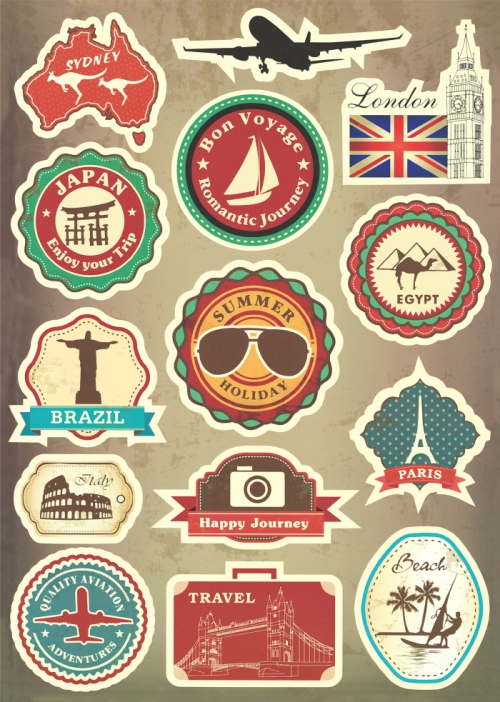 Popular Luggage Stickers Vintage-Buy Cheap Luggage ...