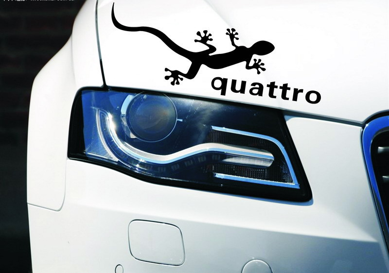 2 Colors Gecko Quattro Car Stickers Reflective Lamp Eyebrow Light Brow Car Styling For Ford Focus Chevrolet Cruze 2PCS/LOT(China (Mainland))