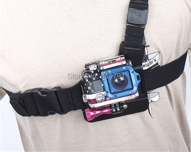 New Go Pro Accessories Light Weight 3 Points Chest Belt Chesty Strap Easy Fast GoPro Mount For SJ4000 Go Pro Hero 4 3+ 3 2(China (Mainland))