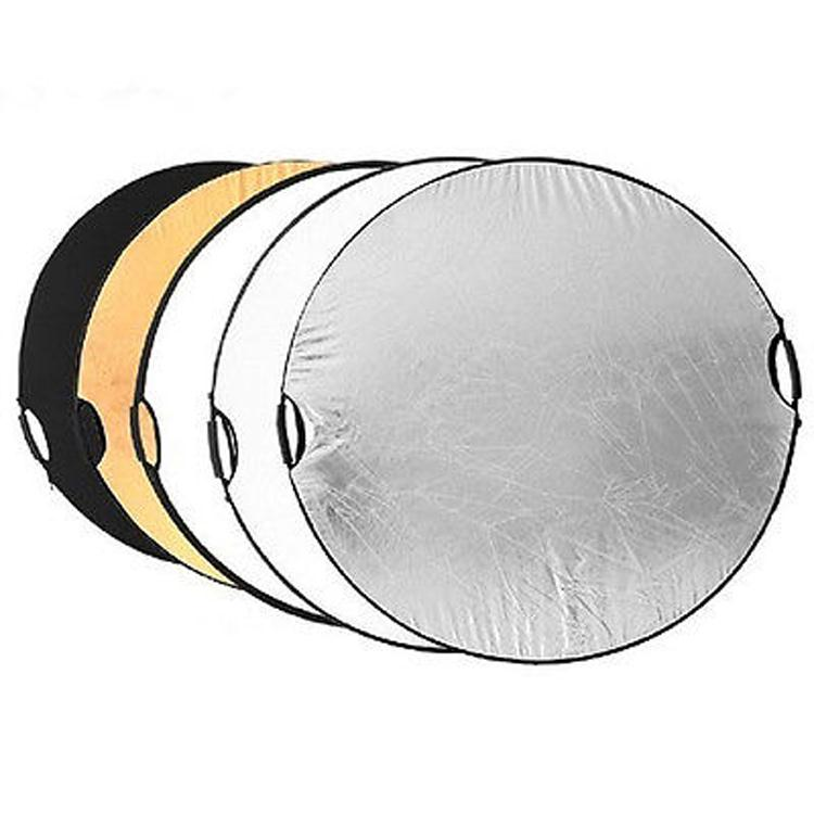 """NEW Handheld 110cm 43"""" 5 in 1 Light Multi Collapsible Photo Reflector Board Disc(China (Mainland))"""
