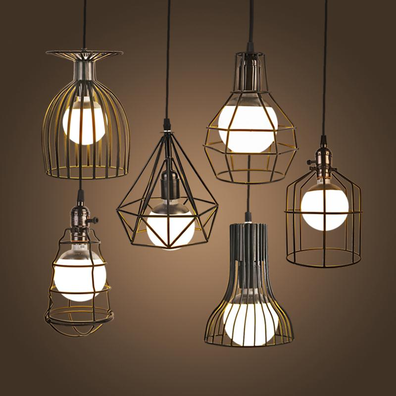New vintage iron pendant light industrial loft retro for Bedroom hanging lights