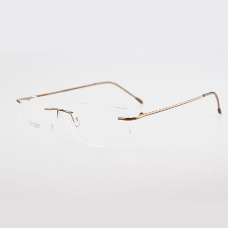 Ultra Lightweight Eyeglass Frames : Ultra Light Titanium Rimless Myopia Glasses Frames Quality ...