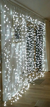 3Mx3M 300leds icicle led curtain string fairy light 300bulb Xmas Christmas Wedding home garden party garland decor 110V-5 COLORS(China (Mainland))