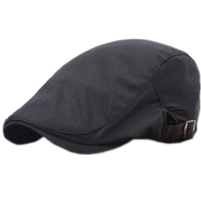Cotton Beret Casual Solid White Cap Flat Caps For Men Adult French Beret Hat intage Boina Feminina Women Beret C45C60(China (Mainland))