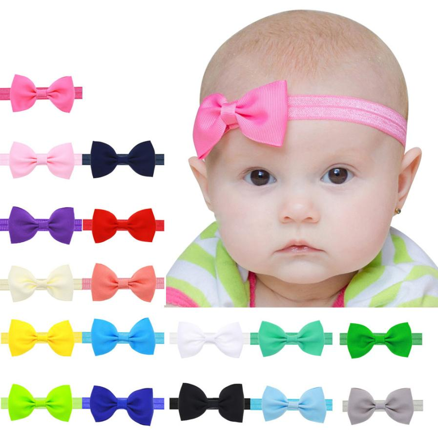 baby girl kids elastics hair head bands flower satin ribbon bows headband accessories gum for new borns hair wrap hairband tiara(China (Mainland))