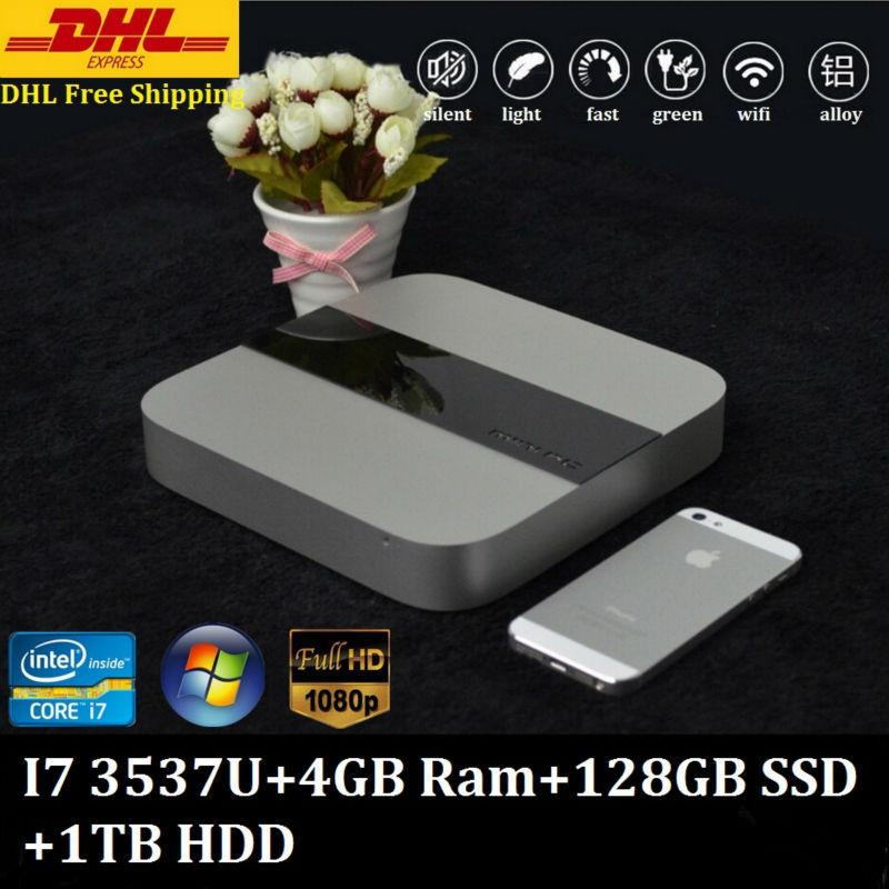 Eglobal Mini Computer Compact PC Green PC Intel Core i7 3537U 4GB Ram 128GB SSD 1TB HDD 300M Wifi Windows Linux XBMC Supported(China (Mainland))