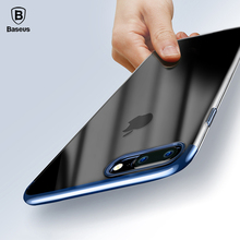 Baseus Ultra Thin Hard PC Case For iPhone 7 7Plus Luxury Plating Back Protective Cover For iPhone7 Plus Protective Shell Coque(China (Mainland))