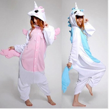 Mens Animal Onesie Cosplay Halloween Adult Unicorn Costume Blue Minion Unicorn Pajamas