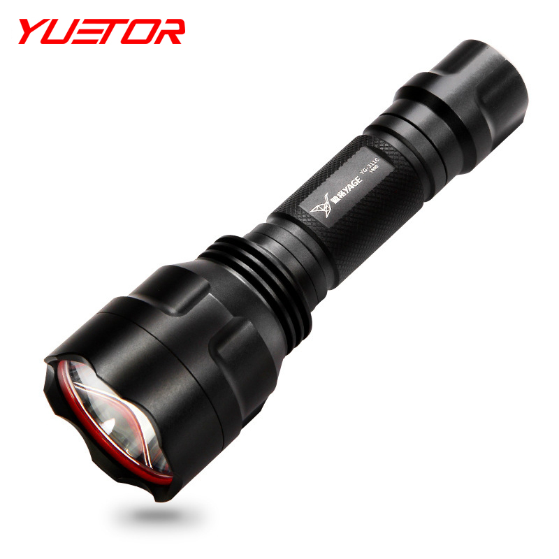 Brand YUETOR CREE XP-E led flashlights zoomable 18650 rechargeable aluminum alloy lampe torche de caza recargables(China (Mainland))