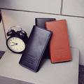 Hanup 2016 New men wallets Casual wallet men purse Clutch bag Brand leather wallet long design