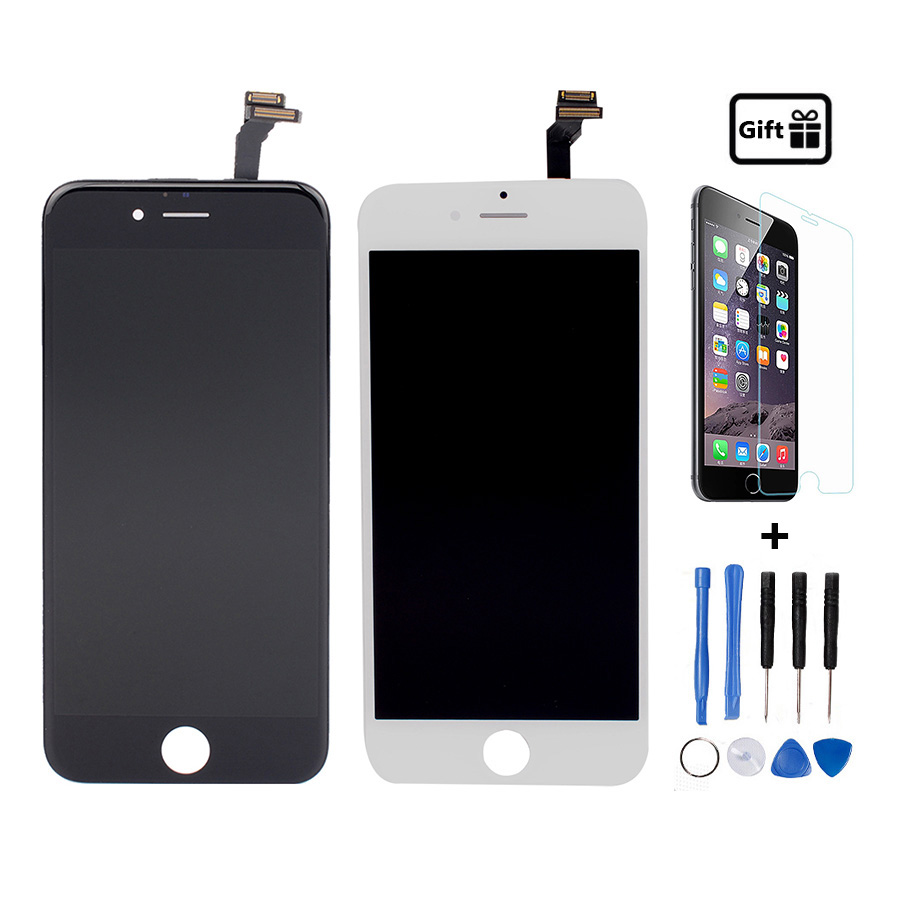 AAA Quality LCD Display For iPhone 6 Screen With Touch Digitizer Assembly Replacement Black or White+Free Tempered glass+Tools(China (Mainland))