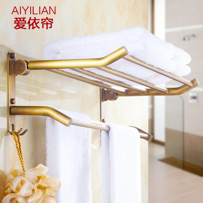 Antique full copper folded towel rack towel rack bathroom toilet bathroom shelf NEW(China (Mainland))