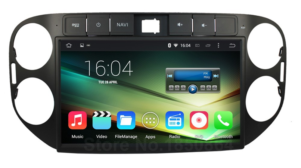 Quad Core Android 5.1 Car DVD Player Auto PC Radio GPS for VW Tiguan 2015 2014 2013 2012 with Canbus Mirror-link BT WIFI(China (Mainland))