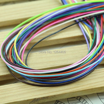 10 meters/piece 1MM diameter Waxed Thread Polyester Cord String Strap Wholesale Necklace Rope Bead Fit shamballa Bracelet