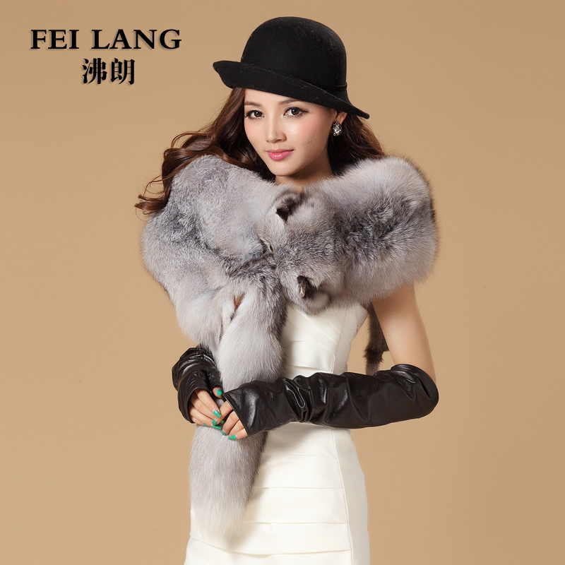 Luxury Autumn and Winter Women Whole Fox Fur Shawls Lady Wraps Wedding Bridal Pashmina Capes VF0514(China (Mainland))