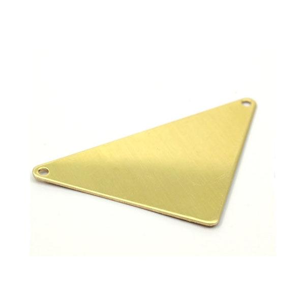 56x41x41x0.80 mm Geometrical Raw Brass Flat Triangle Handstamp Jewelry Stamping Blanks With 2 holes(China (Mainland))