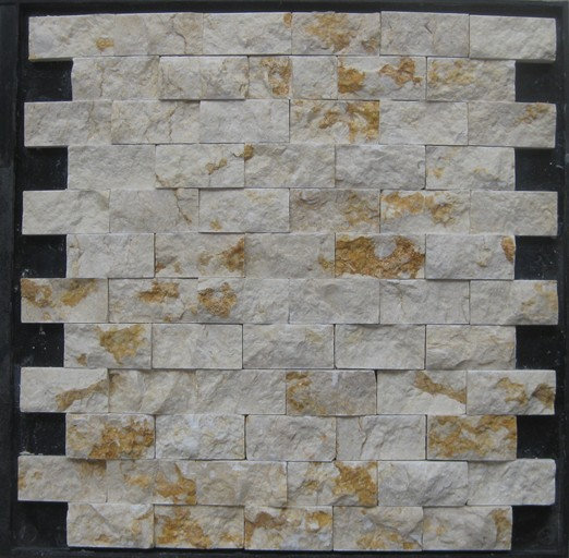 LSST012,Strip outdoor stone mosaic,stone mosaic for decorations,strip marble mosaic