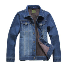 2015 autumn and winter fashion denim jacket thickening slim men's jeans jackets free shipping(China (Mainland))