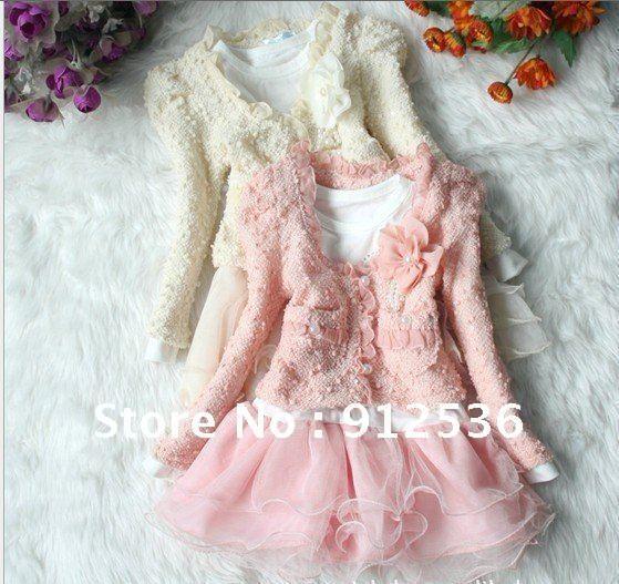 Здесь можно купить  Free ship Wholesale New Arrivals sping o& autumn girls Suit n Dress. cotton+modal.4pcs/lot.BY037  Детские товары