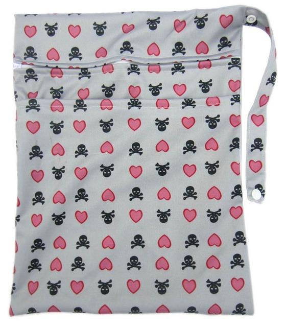 Новый многоразовый дизайн печатной ткань пеленки мокрые мешки водонепроницаемой ткани ...