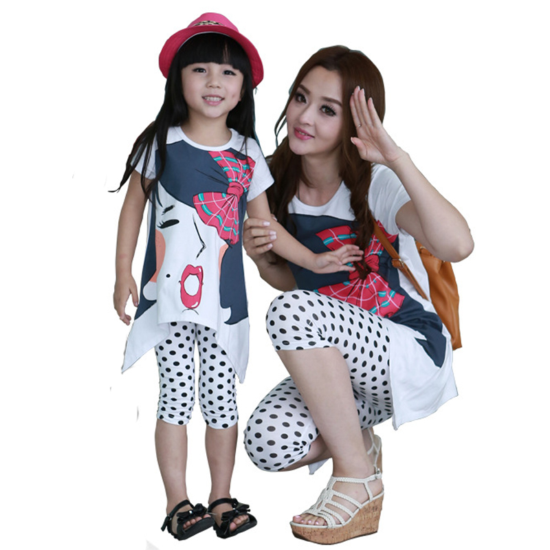 2015 family fashion spring pack summer clothes mother daughter plus size one-piece dress - Spring Children Clothes and Shoes store