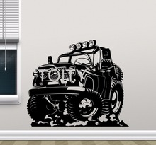 Buy Monster Truck Wall Sticker JP Car Wrangler Automobile Vinyl Decal Home Boy Room Interior Art Decoration Creative Art Mural for $12.74 in AliExpress store
