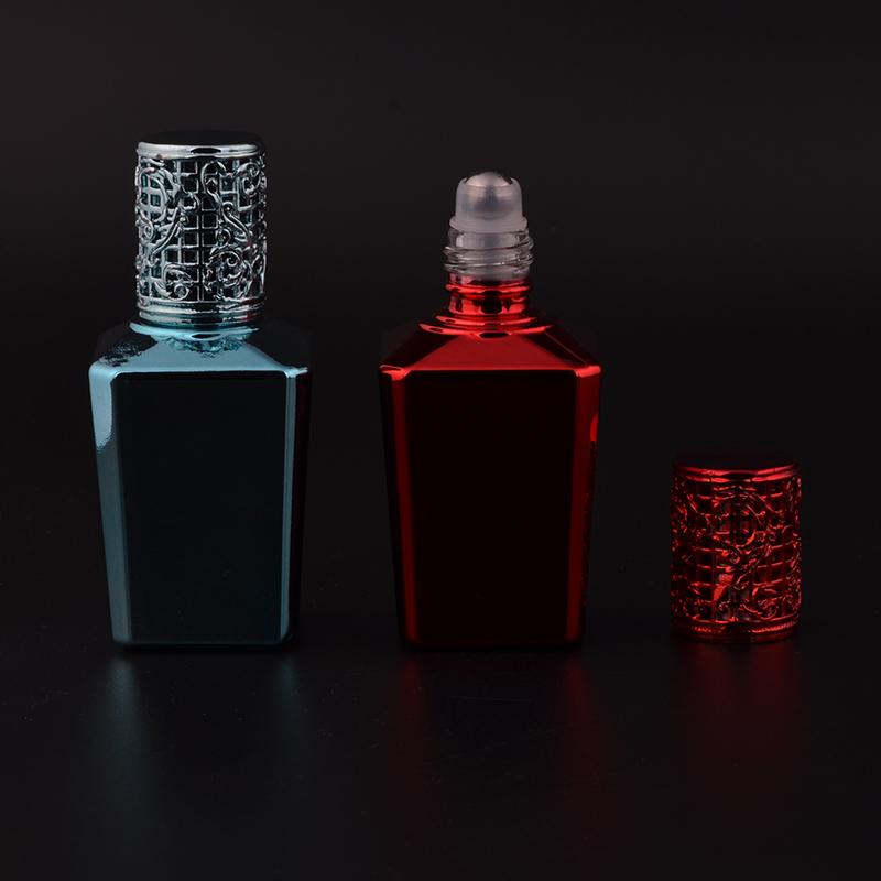 MUB - 2016 New Design 15ml UV Glass Parfum Bottles Men & Women Portable Travel Perfume Bottle With Alloy Cap(China (Mainland))